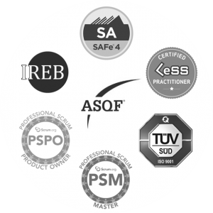 IREB Less SAFe 4 ASQF TüV Süd PSM SCRUM PRODUCT OWNER marenas consulting